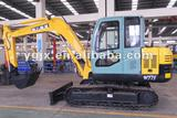 7ton small crawler excavator and the welled excavator with hammer,mini grab,hydraulic system