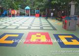 Plastic interlocking Flooring for Outdoor playground