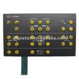 Metal dome tactile membrane switch keypad