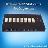 8 channel--32 sim cards gsm gateway