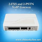 2 FXS and 2 PSTN VoIP gateway,protocol:ITU H.323V4 and IETF SIPV2