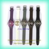 Fashional custom silicon rubber jelly watch