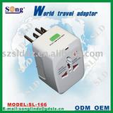 Worldwide travel universal adapter Socket SL166