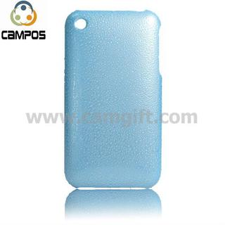 for iPhone 3GS UV coating blue hard PC case