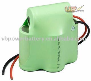 NiMH Battery Pack: VB power 6V D Size 8000mAh E-bike, Communication, Power Stations, Boom Boxes, Lighting