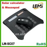 multifunctional mouse pad with solar calculator and USB HUB