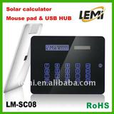 multifunctional mouse pad with solar calculator and UBS HUB