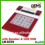 calculator and mouse pad USB HUB with mini speaker