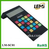 hotsale solar gift---- solar calculator with colorful transparen buttons