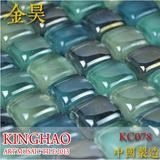 [KINGHAO] Wholesale FINE GLASS Mosaic Wall Tile on Mesh K00104
