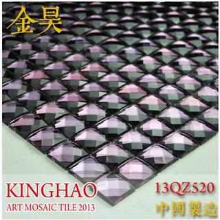 [KINGHAO] Glass mosaic tiles mirror kitchen wall tile backsplash discount bathroom shower design art decor floor cover K00049