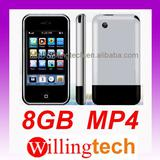 Brand New 8GB Touch Screen MP4 MP3 Player, Built-in Camera, Free shipping