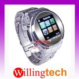 "100% new 1.5"" MQ006 Quad Band Wrist Watch Cell Phone Mobile FM MP3"