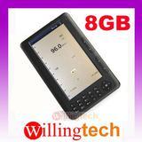 """7"""" E-BOOK READER 8GB MP3 mp4 videos"""