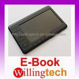 """New 7"""" E-BOOK READER MP3 mp4 Video 4GB black"""
