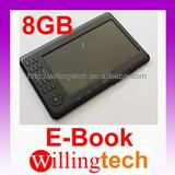 100% New 7 INCH EBOOK READER BUILT IN 8GB MP3 MP4 Video 8G Black and White
