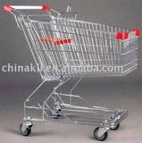 Asian style zinc plated supermarket shopping trolley(150L)