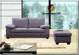 Grey 2 Seater Sofa With Ottman CS-315