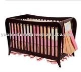 wooden 4-in-1 baby crib