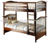 wooden children bunk bed