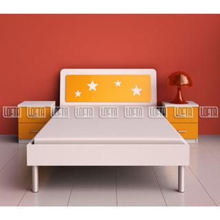 Modern Children Bedroom Set With Wooden Single Bed And Light ...
