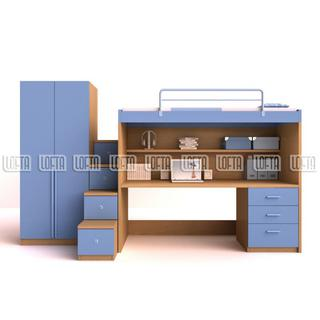 Kids Bedroom Sets High Sleeper Bed With Workstations, Two ...