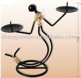 Metal man candler holder