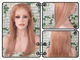 remy  hair front lace wig