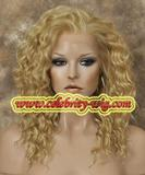 blonde synthetic party wig