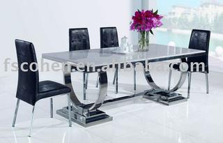 Modern Marble Top Dining Table Office Design Style