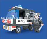 Police plastic building block toys