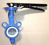 PTFE cast iron butterfly valve without pin