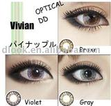 Lower price good quality Vivian boluosanse 17.2mm color contact lens/ manufactured in South Korea