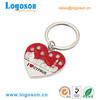 Fashion decorative shiny metal heart keyring