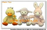Easter Animals with Flower(Lamb Rabbit Duck)