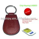 Practical Leather Chip Keyring