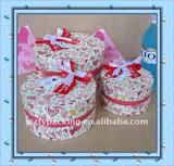 2011 popular high-end round shape cosmetic box
