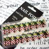 2011 new hot metal christmas nail art stickers for promotion