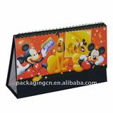 cartoon desk calendar, paper promotional gift pack, paper printing