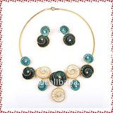 2011 new hot sale high quality fashion alloy  jewelry set
