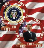 12g President Obama 5 Spot Blank Poker Chip
