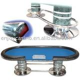 Deluxe 96 inch Holdem poker table with dealer position