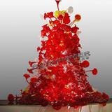 Art glass chandelier&Hand-blow glass chandelier&handmade glass lighting&crystal glass chandelier