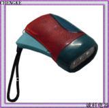 YJ-005 3leds plastic dynamo led flashlight