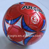 Laser promotional PVC rubber soccer ball football