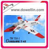 4CH T45 EPO RC MODEL PLANE/TW 750-1 EPO T45 rc Jet
