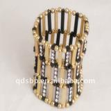 Big zinc alloy diamond bracelet designs for women