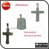 2011 New Style Damasucs Steel Pandent