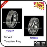 NEW Carved Fashionable Tungsten Ring