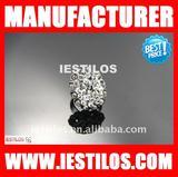 Fashion plated rhinestone alloy ring jewelry